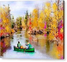 Autumn Canoe Trip Acrylic Print