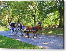 Autumn Carriage Ride Acrylic Print by Allen Beatty