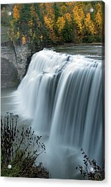 Acrylic Print featuring the photograph Autumn Cascade by Timothy McIntyre