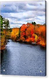 Autumn Channel Acrylic Print
