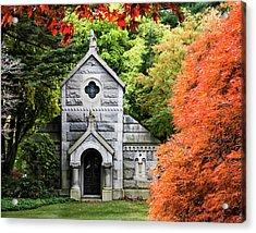 Autumn Chapel Acrylic Print