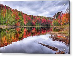 Acrylic Print featuring the photograph Autumn Color At The Pond by David Patterson