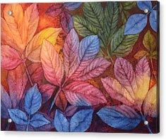Autumn Color Acrylic Print by Nancy Jolley