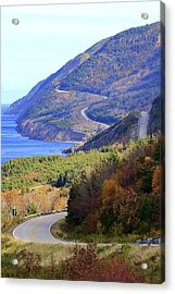 Autumn Color On The Cabot Trail, Cape Breton, Canada Acrylic Print