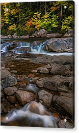 Acrylic Print featuring the photograph Autumn Colors In White Mountains New Hampshire by Ranjay Mitra