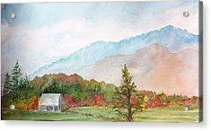 Autumn Colors Acrylic Print by Kris Dixon