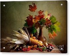 Autumn Colors Acrylic Print by Nailia Schwarz