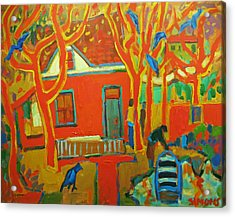 Autumn Cottages Acrylic Print by Brian Simons