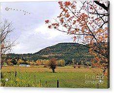 Autumn Country View Acrylic Print