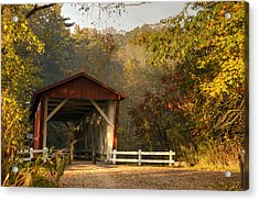 Autumn Covered Bridge Acrylic Print