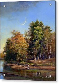 Acrylic Print featuring the painting Autumn Crescent by Wayne Daniels