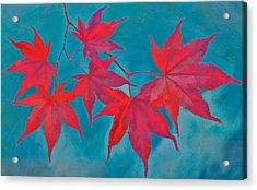 Autumn Crimson Acrylic Print by William Jobes