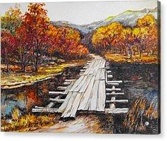 Autumn Crossing Acrylic Print