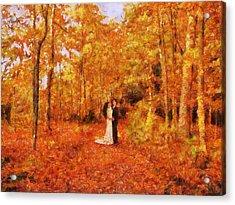 Autumn Dance Acrylic Print by Jai Johnson