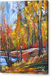 Acrylic Print featuring the painting Autumn by Debora Cardaci