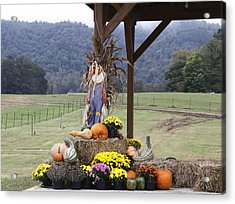 Autumn Display Acrylic Print by Linda A Waterhouse