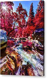 Autumn Dreaming Acrylic Print by ABeautifulSky Photography