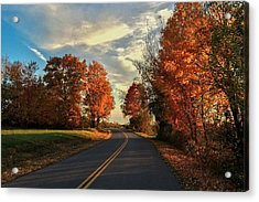 Acrylic Print featuring the photograph Autumn Drive by Kendall McKernon