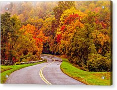 Autumn Drive On The Blue Ridge Acrylic Print by Alex Grichenko