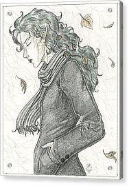 Autumn Dryad Acrylic Print by Brandy Woods