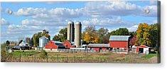 Autumn Elk Farm Acrylic Print