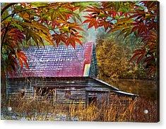 Autumn Embrace Acrylic Print by Debra and Dave Vanderlaan