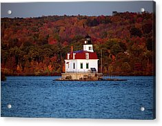 Autumn Evening At Esopus Lighthouse Acrylic Print by Jeff Severson