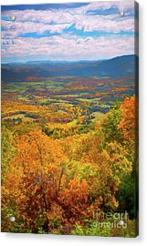 Autumn Fall Colors In The Arnold Valley Ap Acrylic Print by Dan Carmichael