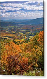 Autumn Fall Colors In The Arnold Valley Acrylic Print by Dan Carmichael