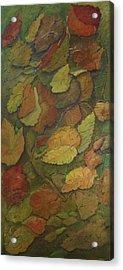 Autumn Falling Acrylic Print