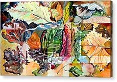 Autumn Falls Acrylic Print by Mindy Newman