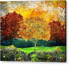 Autumn Fantasy Acrylic Print by Ally White