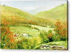 Autumn Farm In Vermont Acrylic Print