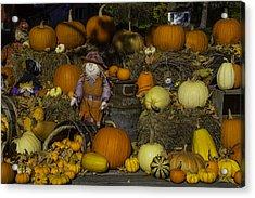 Autumn Farm Stand Acrylic Print by Garry Gay