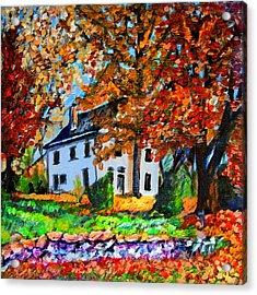 Autumn Farmhouse Acrylic Print by Laura Heggestad