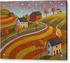 Autumn Farmland Acrylic Print by Mary Charles
