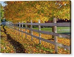 Autumn Fence Acrylic Print by Bill Wakeley