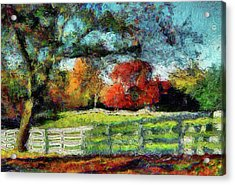 Autumn Field On The Farm Acrylic Print