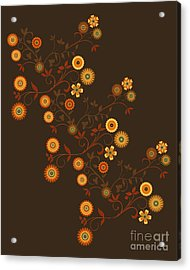 Autumn Flower Explosion Acrylic Print by Methune Hively