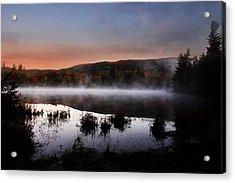 Autumn Fog Acrylic Print by William Carroll