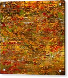 Autumn Foliage Abstract Acrylic Print by Lourry Legarde