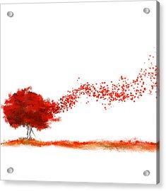 Autumn Foliage Impressionist Acrylic Print by Lourry Legarde