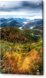 Autumn Foliage On Blue Ridge Parkway Near Maggie Valley North Ca Acrylic Print