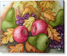 Autumn Fruit Still Life Acrylic Print