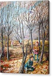 Autumn Games - Jeux D'automne Acrylic Print