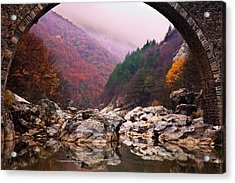 Autumn Gate Acrylic Print