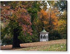 Autumn Gazebo Acrylic Print by Elsa Marie Santoro