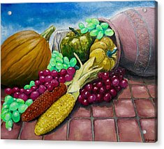 Autumn Acrylic Print by Geni Gorani