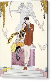 Autumn Acrylic Print by Georges Barbier
