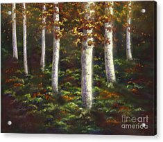 Acrylic Print featuring the digital art Autumn Ghosts by Amyla Silverflame
